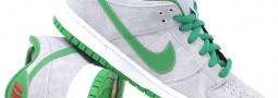 Nike Skateboarding Dunk Low Matt Silver/ Classic Green
