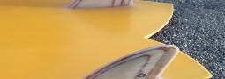 Nico Wavegliders Surfboards Single Fin, Retro Twin Fin Fish, Egg Shape, V8