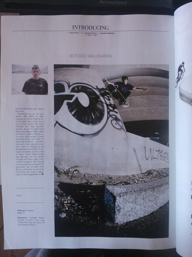 Konrad waldmann Monster Skate Mag