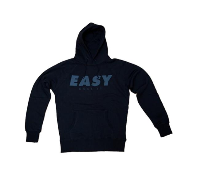 Easy Does it Hoodet Kapuzen Sweat Black Berlin