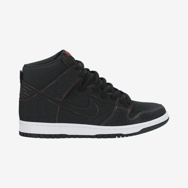 Nike-Dunk-High-Pro-SB-Mens-Sneaker-Black-Black White