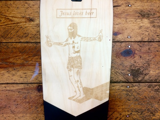 Globe Jesus Loves Beer Longboard