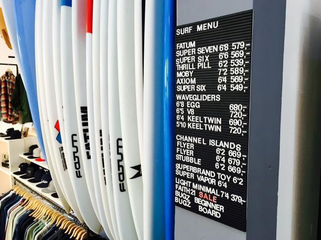 Surf Menu